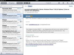 iPad email app