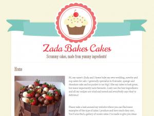 zadabakescakes web design